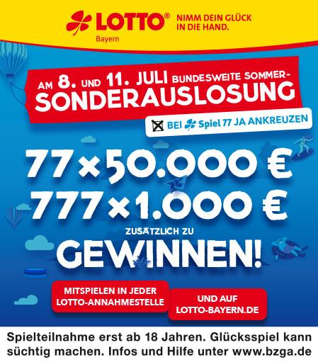 Lotto Bayern Sonderauslosung Spiel 77