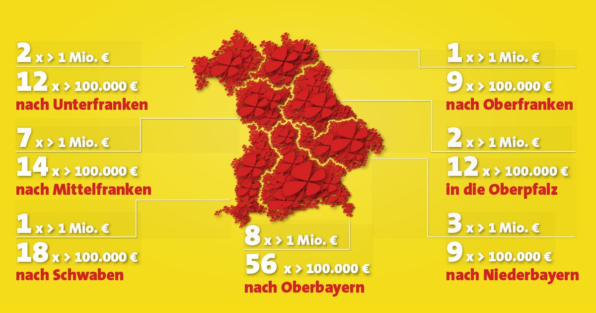 Karte Oberfranken Unterfranken Mittelfranken.24 Neue Millionare 2018 In Bayern