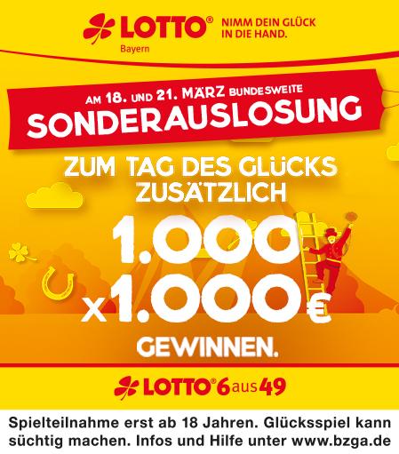 Lotto Sonderauslosung März 2020